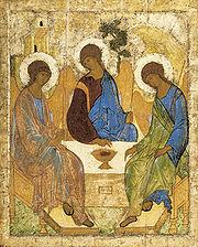 Андрей Рублев. Троица. 1-я четверть XV в.